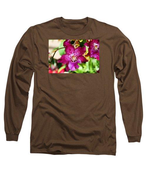 Fabulous Fushia Orchids By Diana Sainz Long Sleeve T-Shirt