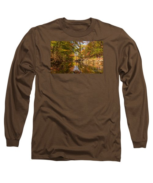Long Sleeve T-Shirt featuring the photograph Fall At Valley Creek  by Rima Biswas
