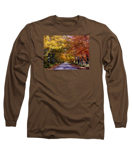 Fall Colors Near Sister Bay Long Sleeve T-Shirt by David T  Wilkinson