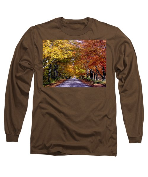 Fall Colors Near Sister Bay Long Sleeve T-Shirt