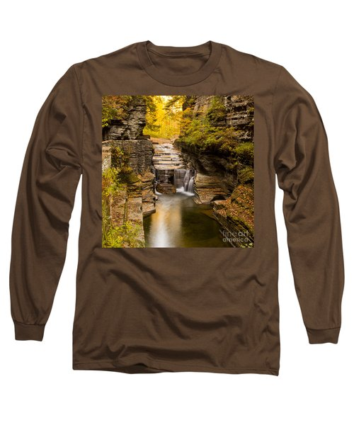 Fall Foliage At Dusk Treman Park Long Sleeve T-Shirt
