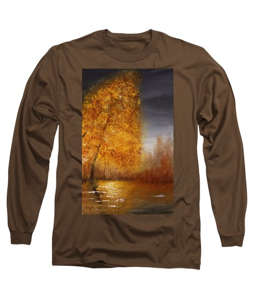 Fall Lake Reflections Long Sleeve T-Shirt