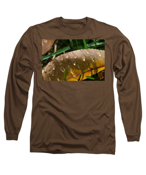 Fall Morning Leaf And Dew Long Sleeve T-Shirt