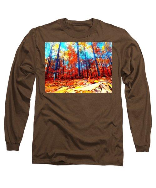 Fall On Fire Long Sleeve T-Shirt