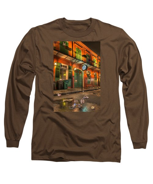 Long Sleeve T-Shirt featuring the photograph Fall-out From Pat O'briens by Tim Stanley