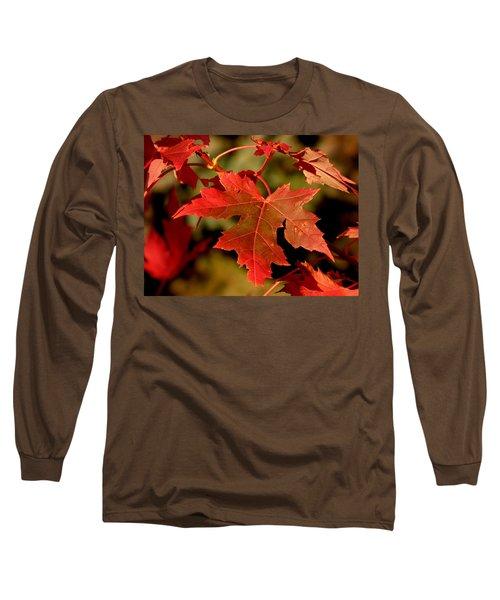 Fall Red Beauty Long Sleeve T-Shirt