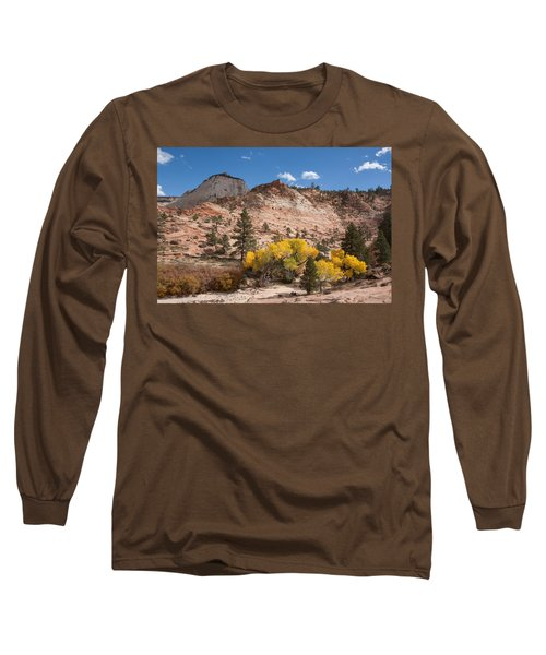 Long Sleeve T-Shirt featuring the photograph Fall Season At Zion National Park by John M Bailey