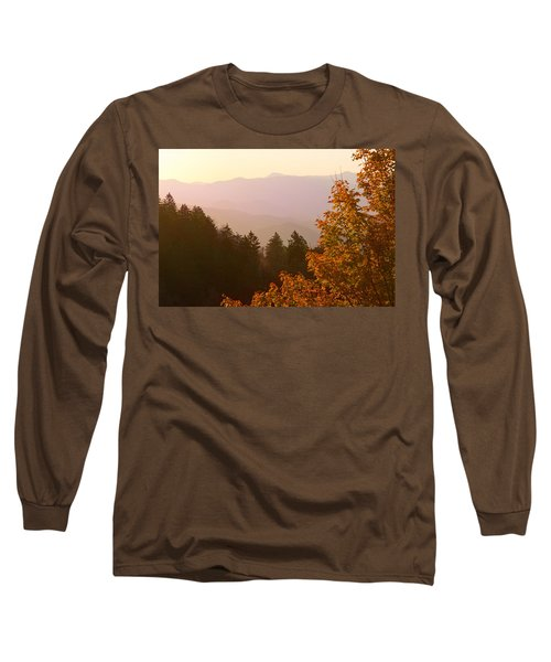 Fall Smoky Mountains Long Sleeve T-Shirt by Melinda Fawver