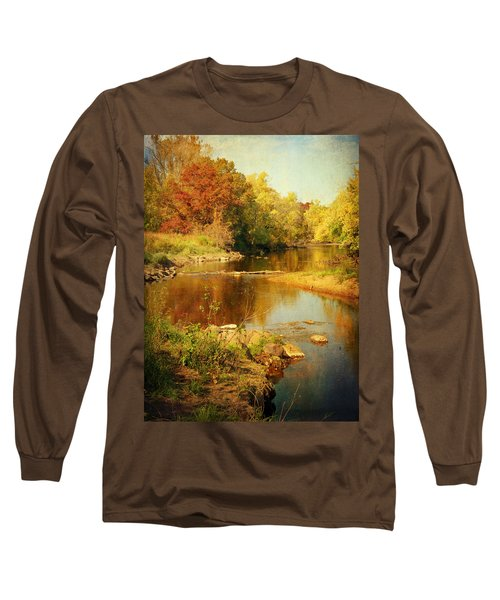Fall Time At Rum River Long Sleeve T-Shirt by Lucinda Walter