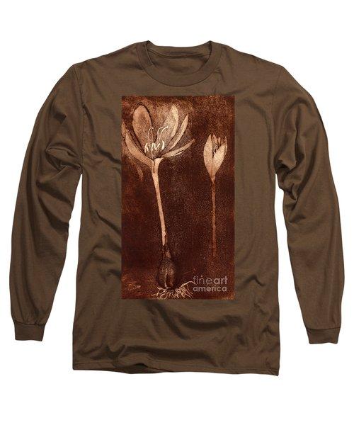 Fall Time - Autumn Crocus Meadow Safran Long Sleeve T-Shirt