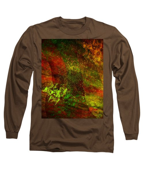 Long Sleeve T-Shirt featuring the mixed media Fallen Seasons by Ally  White
