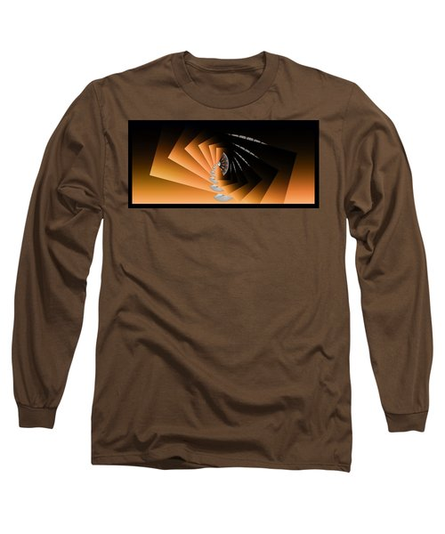 Long Sleeve T-Shirt featuring the digital art Fantasim Orange by Paula Ayers