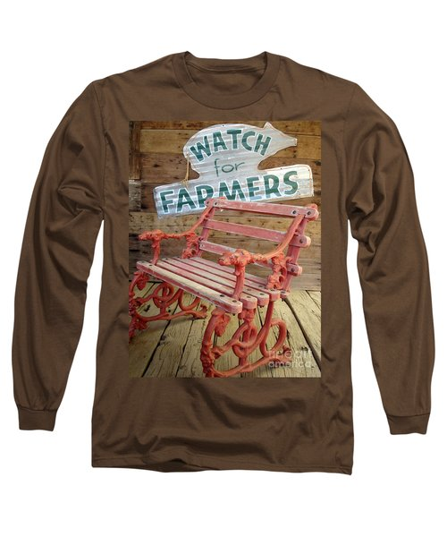 Long Sleeve T-Shirt featuring the photograph Farmer Bench by Kerri Mortenson