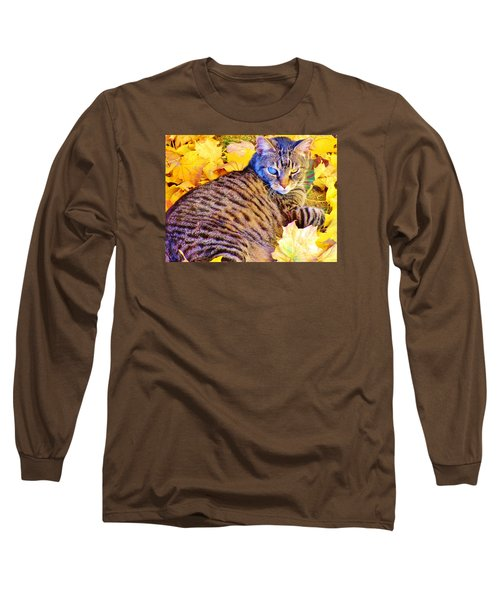 Long Sleeve T-Shirt featuring the photograph Feeling Fall by Marilyn Diaz
