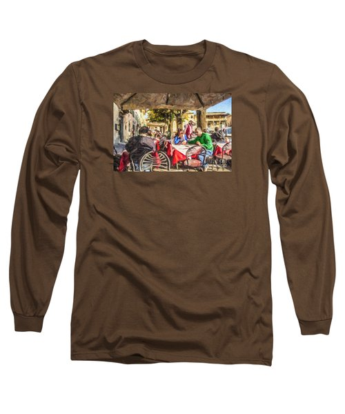 Fiesole Al Fresco Long Sleeve T-Shirt by Liz Leyden