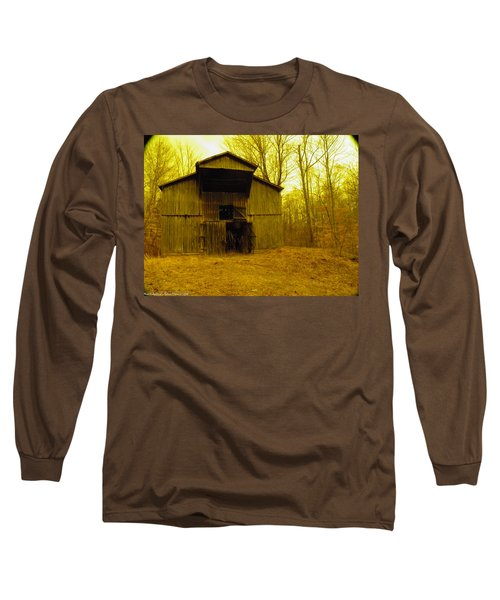 Long Sleeve T-Shirt featuring the photograph Filtered Barn by Nick Kirby