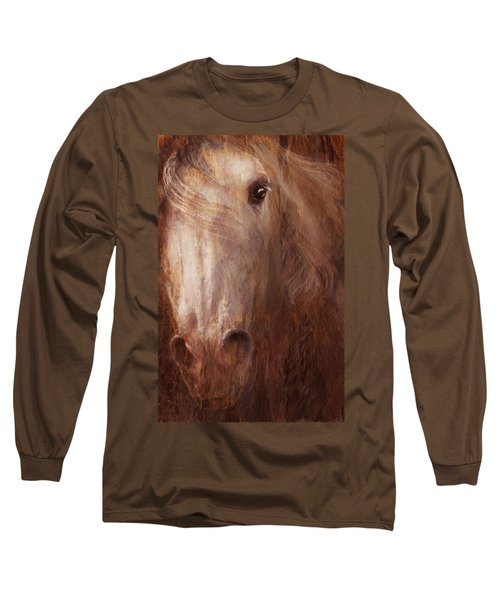 Fire And Ice Long Sleeve T-Shirt by Melinda Hughes-Berland