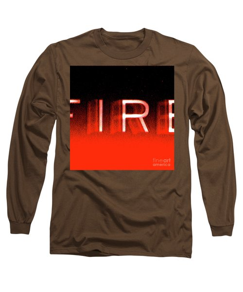 Fire Long Sleeve T-Shirt by CML Brown