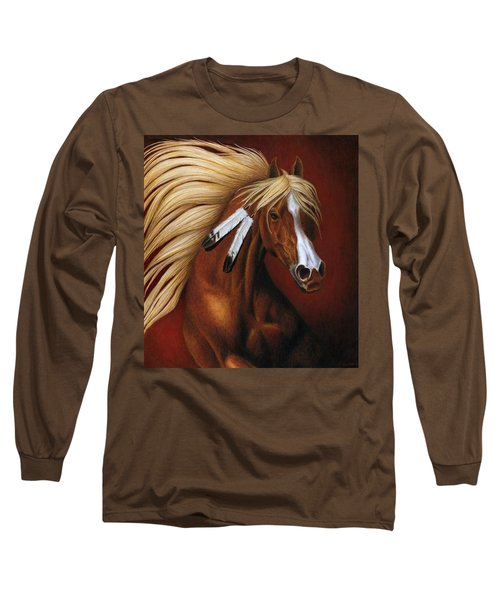 Long Sleeve T-Shirt featuring the painting Fire Dance by Pat Erickson