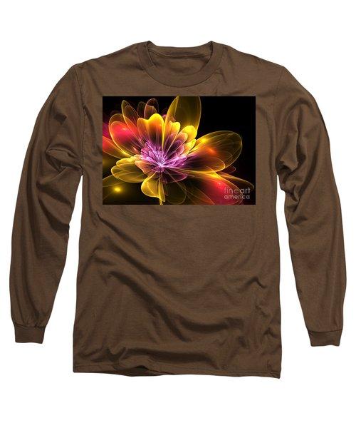 Long Sleeve T-Shirt featuring the digital art Fire Flower by Svetlana Nikolova