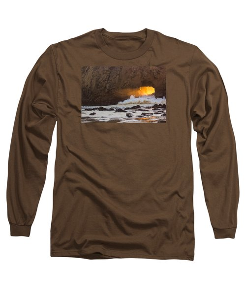 Fire In The Hole Long Sleeve T-Shirt by Suzanne Luft