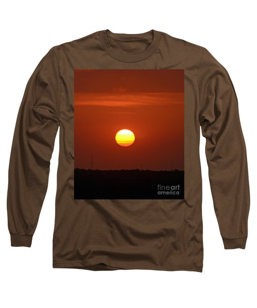 Fire In The Sky Long Sleeve T-Shirt by Kerri Farley