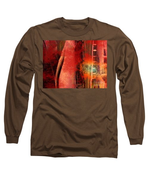 Long Sleeve T-Shirt featuring the painting Firefall  by Yul Olaivar