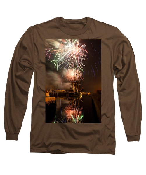 Fireworks Exploding Over Salem's Friendship Long Sleeve T-Shirt