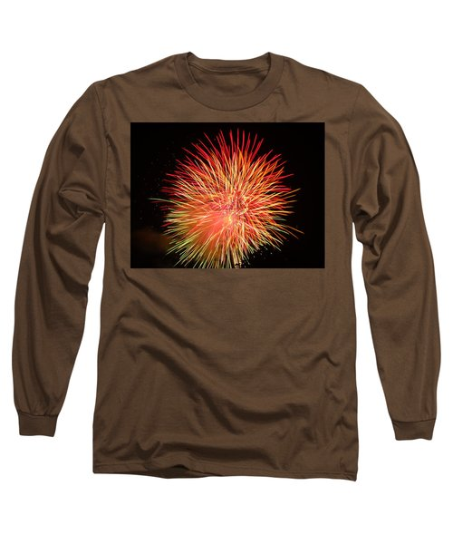 Long Sleeve T-Shirt featuring the photograph Fireworks  by Michael Porchik