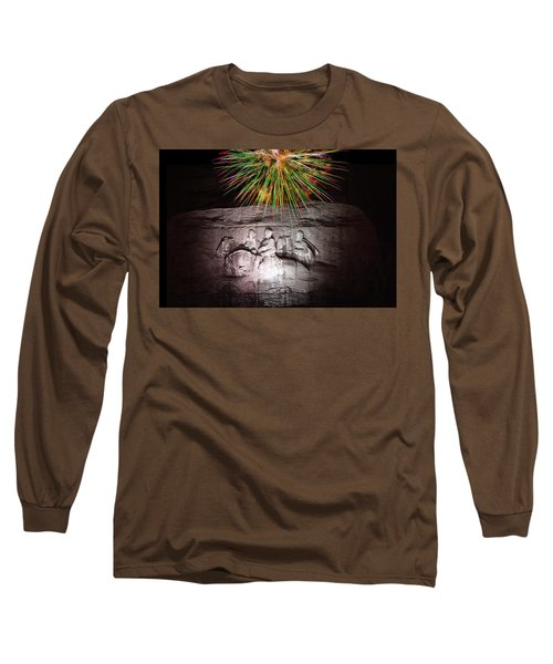Fireworks Over Stone Mountain Long Sleeve T-Shirt