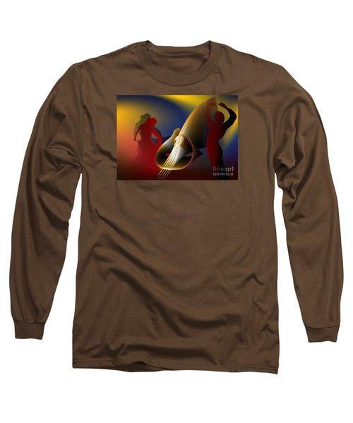 Long Sleeve T-Shirt featuring the digital art Flamenco by Leo Symon