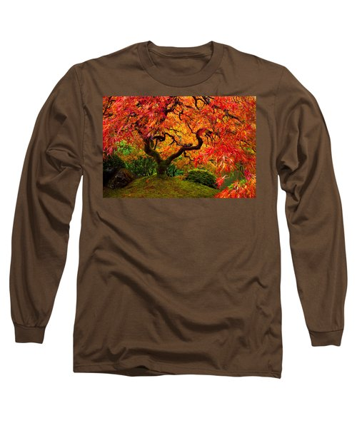Flaming Maple Long Sleeve T-Shirt by Darren  White