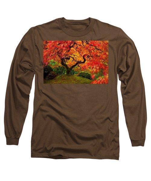 Flaming Maple Long Sleeve T-Shirt