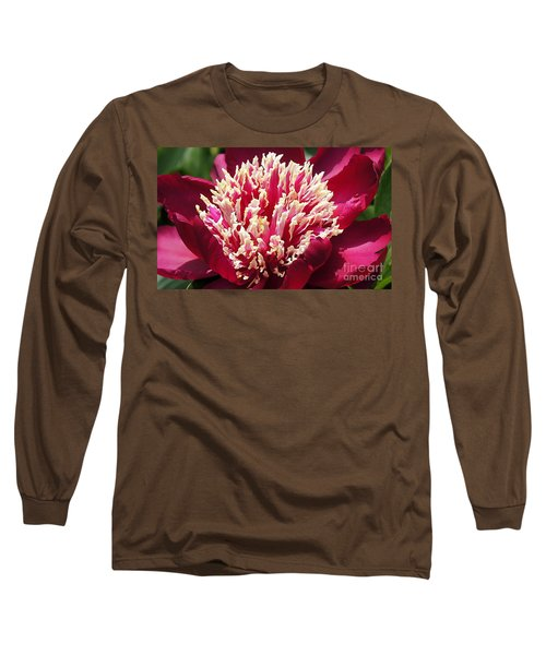 Flaming Peony Long Sleeve T-Shirt