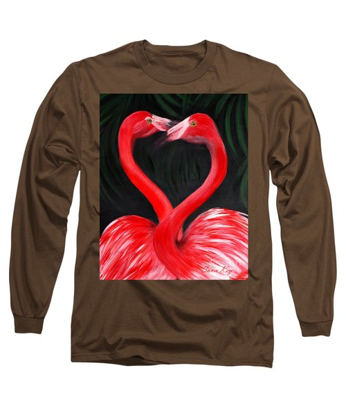 Love  Is... Flamingo Love. Inspirations Collection Long Sleeve T-Shirt