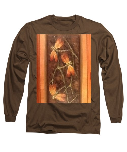Long Sleeve T-Shirt featuring the painting Flight Of The Dragons by Megan Walsh