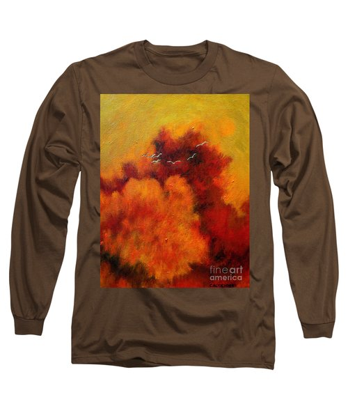 Flight Of The White Birds Long Sleeve T-Shirt