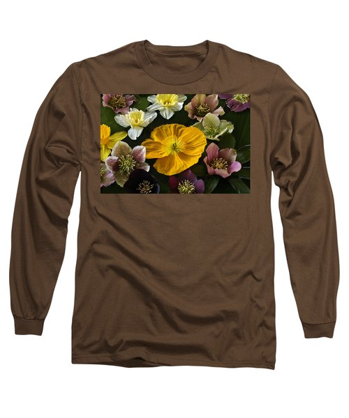 Floating Bouquet Of Early April Flowers Long Sleeve T-Shirt
