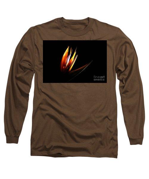 Flor Encendida Detalle Long Sleeve T-Shirt