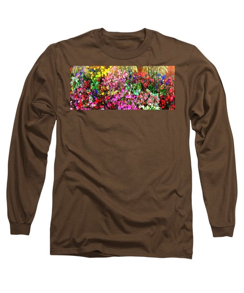 Floral Basket 1  2.4 To 1 Aspect Ratio Long Sleeve T-Shirt