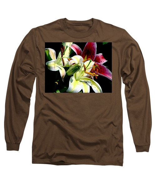 Long Sleeve T-Shirt featuring the photograph Florals In Contrast by Ira Shander