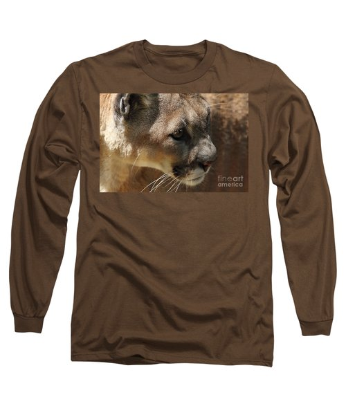 Long Sleeve T-Shirt featuring the photograph Florida Panther by Meg Rousher