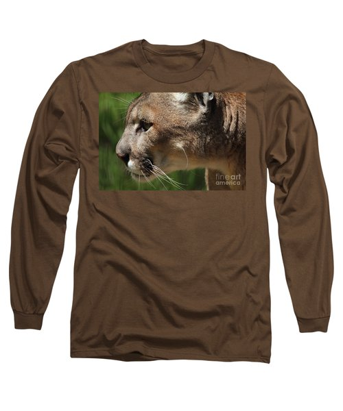 Long Sleeve T-Shirt featuring the photograph Florida Panther Profile by Meg Rousher