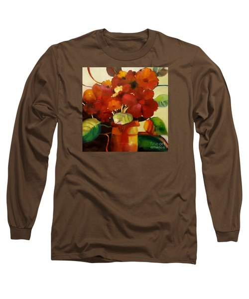 Long Sleeve T-Shirt featuring the painting Flower Vase No. 3 by Michelle Abrams