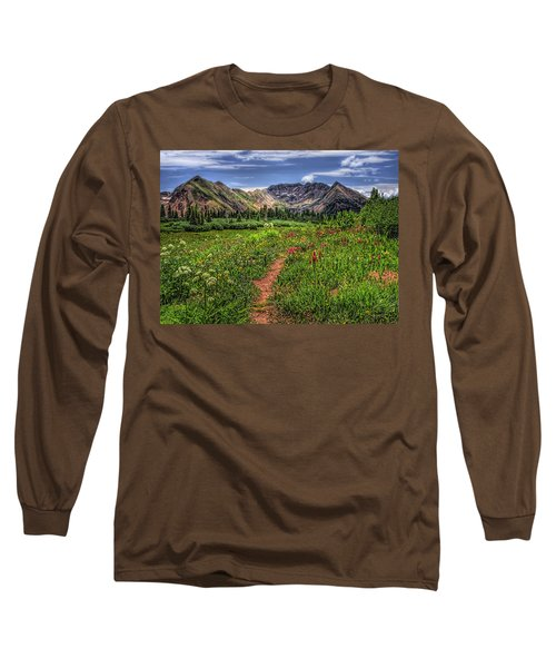 Long Sleeve T-Shirt featuring the photograph Flower Walk by Priscilla Burgers