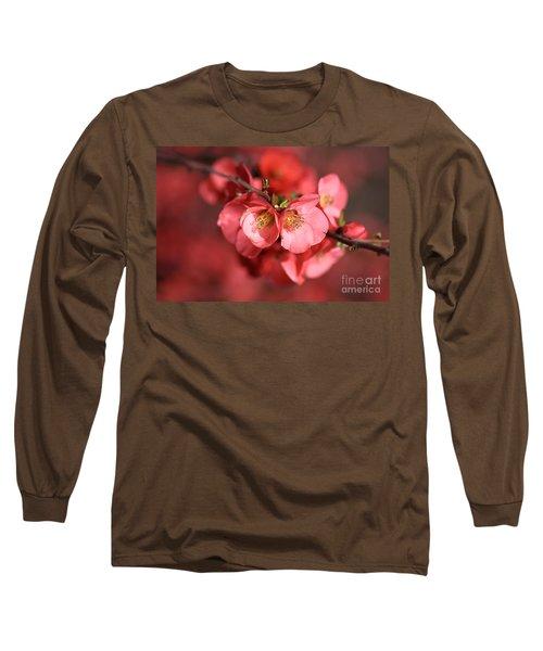 Flowering Quince Long Sleeve T-Shirt by Joy Watson