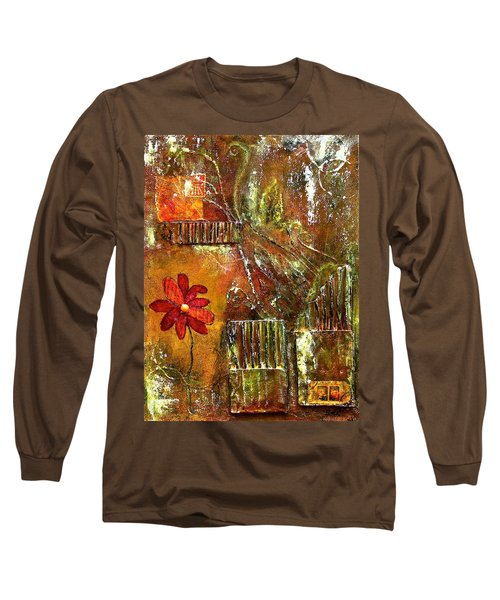 Flowers Grow Anywhere Long Sleeve T-Shirt by Bellesouth Studio