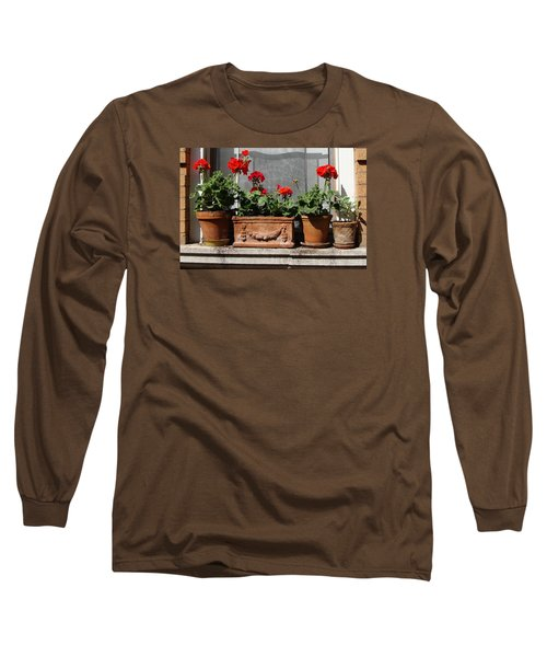Long Sleeve T-Shirt featuring the photograph Flowers Of New York by Ira Shander