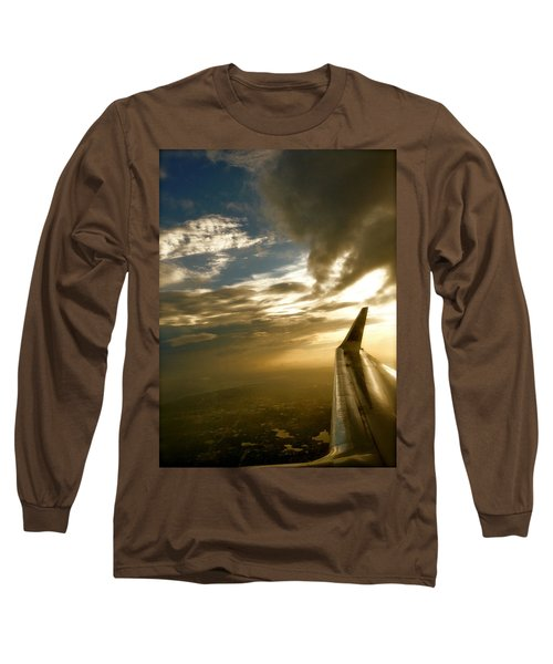 Flying Clouds By David Pucciarelli Long Sleeve T-Shirt