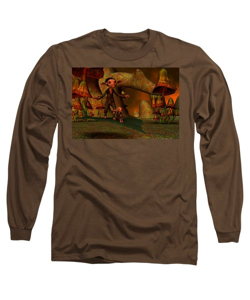 Long Sleeve T-Shirt featuring the digital art Flying Through A Wonderland by Gabiw Art